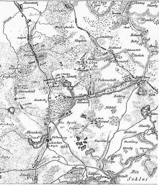 Eine Karte gem. General v. Krogh 1850