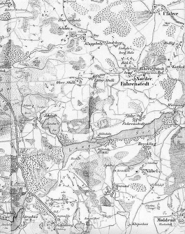 Eine Karte gem. Leopold v. Gerhardt 1852