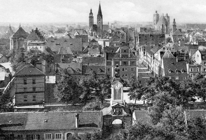 Ingolstadt - Stadtansicht um 1900