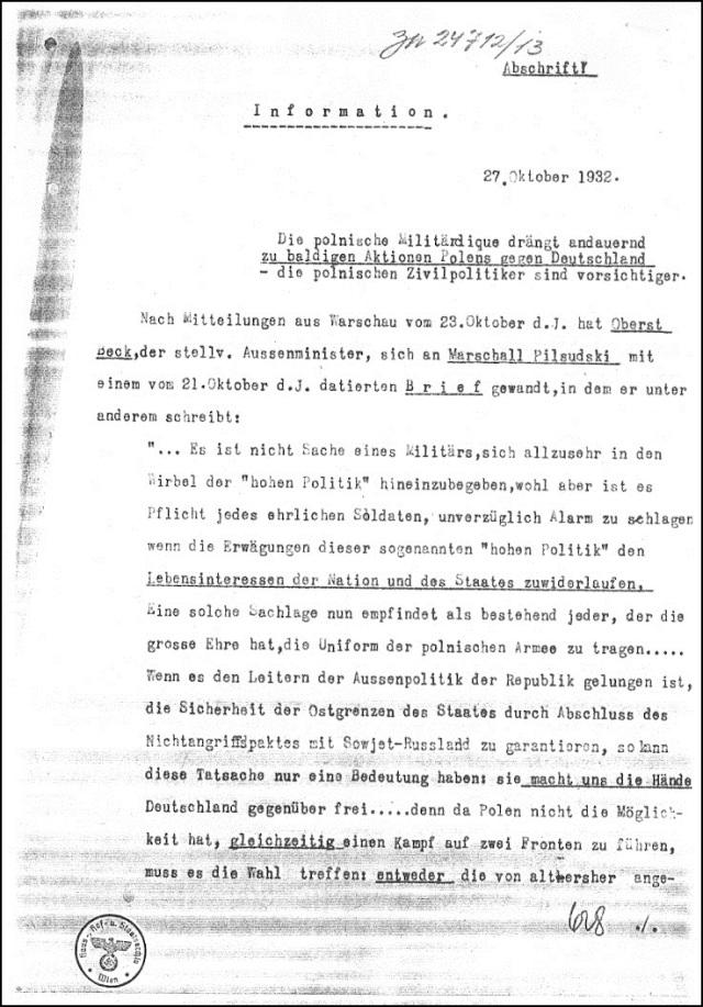 Polnische Kriegshetze 1932 (2)